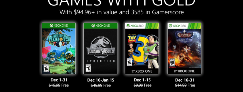Games with Gold december 2019