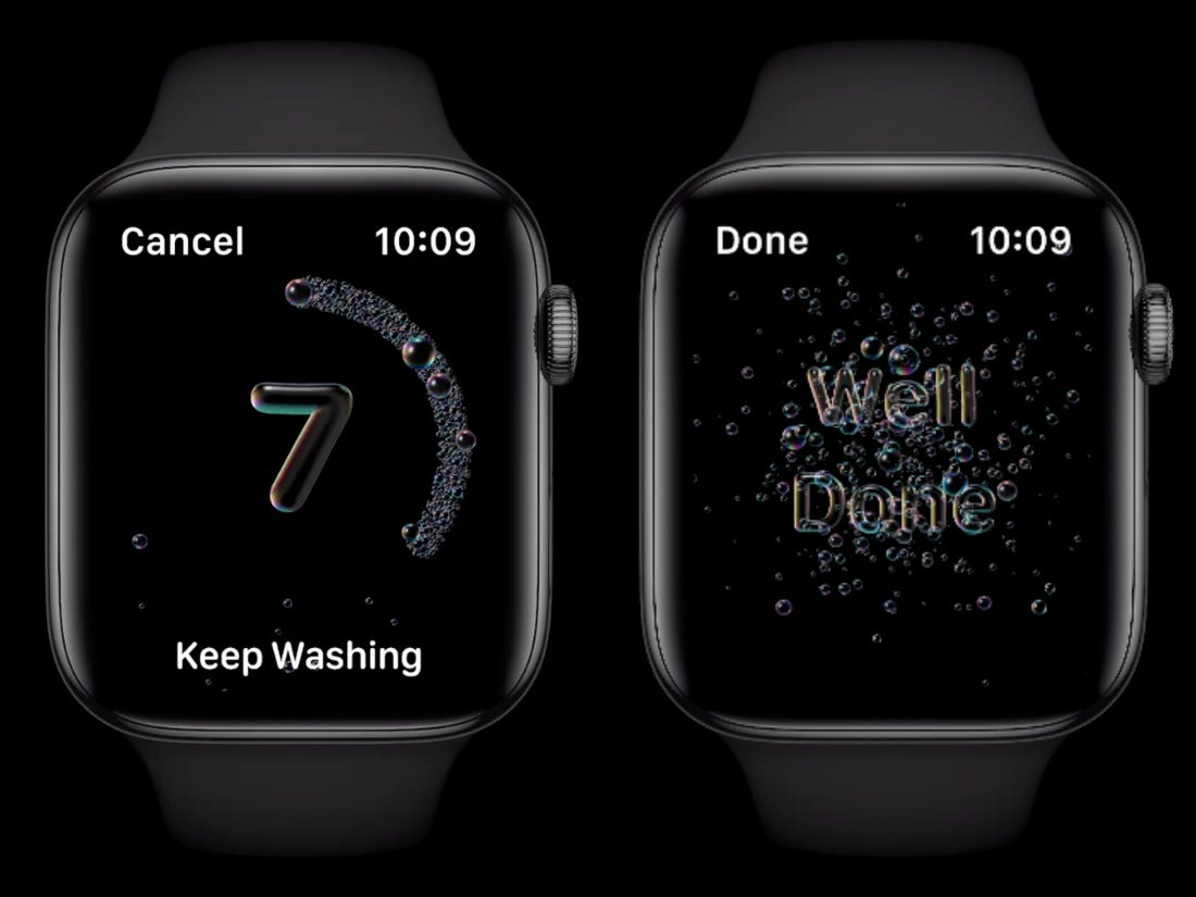 WatchOS 7 hands